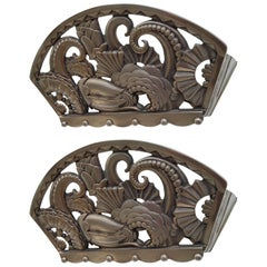 Pair of French Art Deco Octopus Sconces