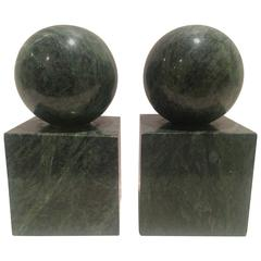 Verde Green Marble Architectural Bookends