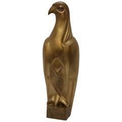 French Art Deco Bronze Falcon Sculpture