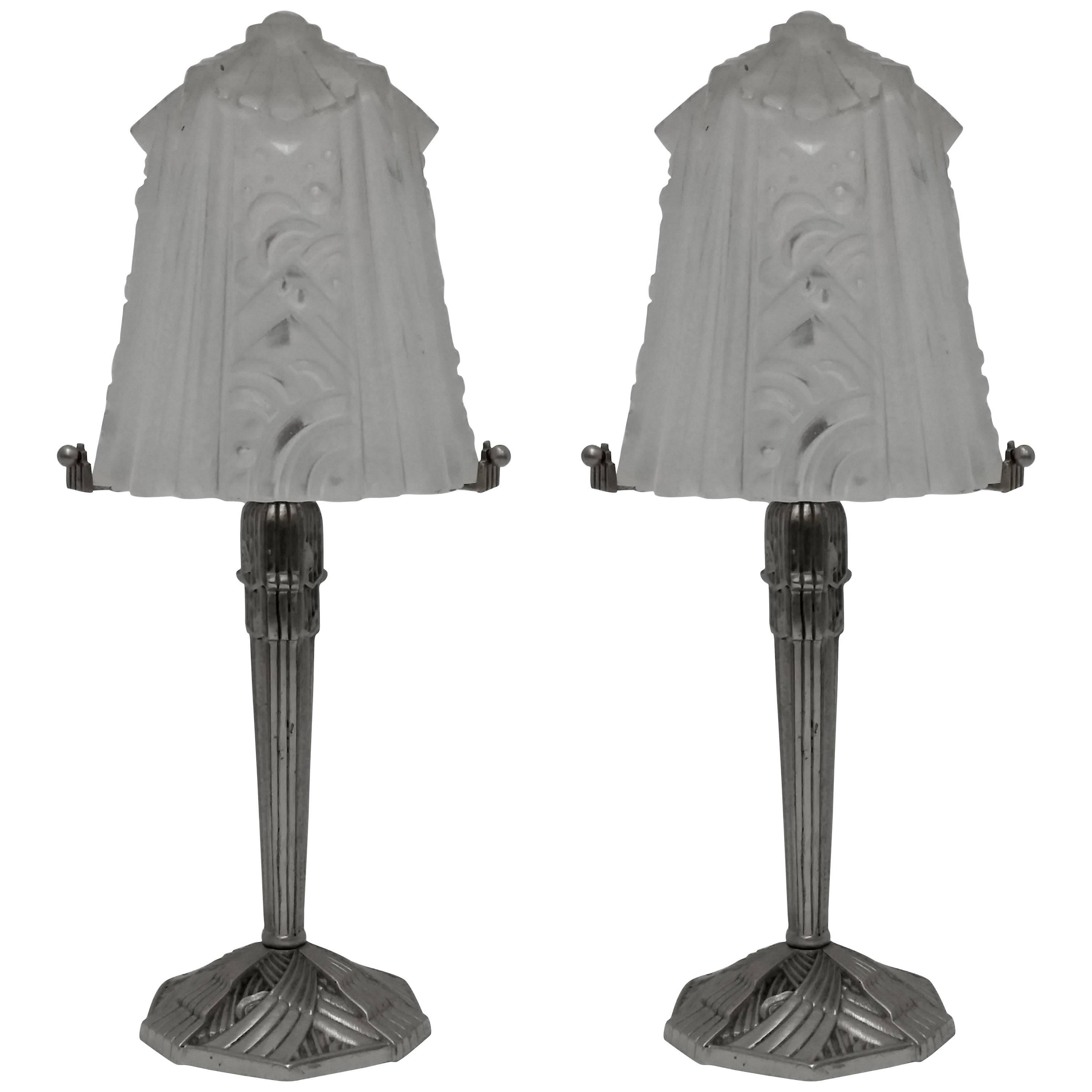 French Art Deco of Muller Frères Table Lamp