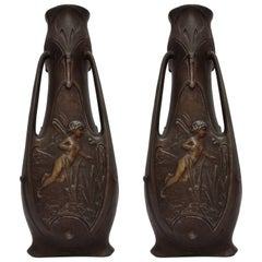 French Art Nouveau Vases