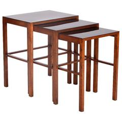 Set of Three Nesting Tables, Model No. 50, Designed by Jindrich Halabala