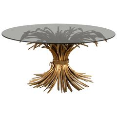 "Maison Bagues ""Sheaf of Wheat"" Coffee Table, 1950's"