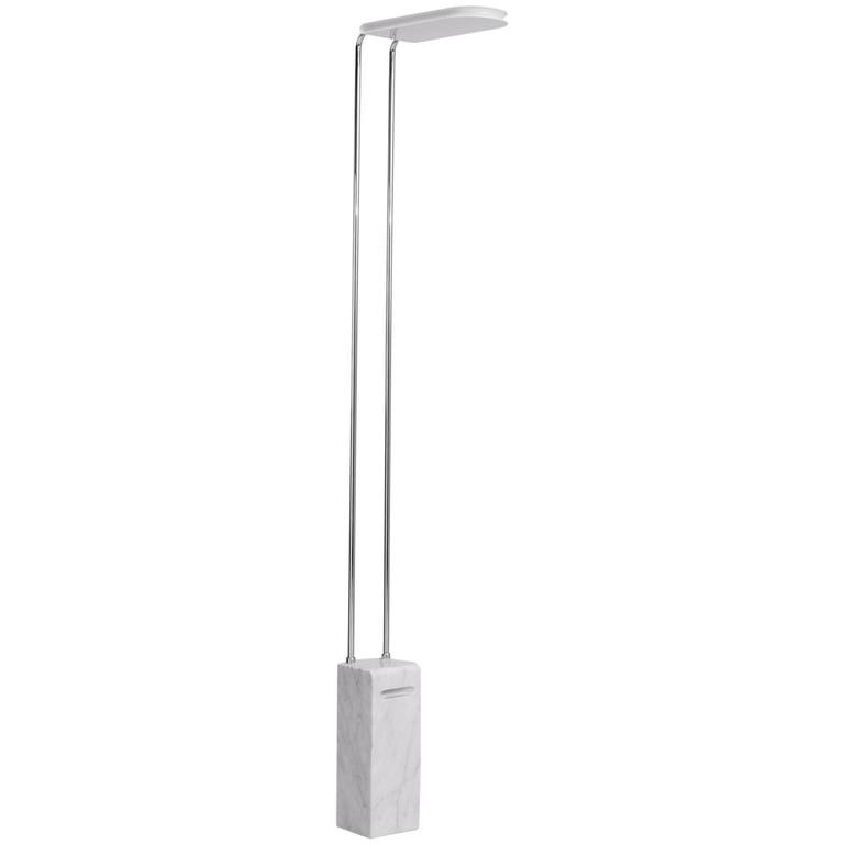Floorlamp with Marble Base for Skipper Italy For Sale