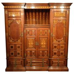Rare and Wonderful Aesthetic Period Arts & Crafts Wardrobe Possibly by Marsh Jon