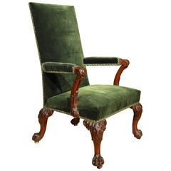 Fine 18th Century Carved Mahogany Armchair