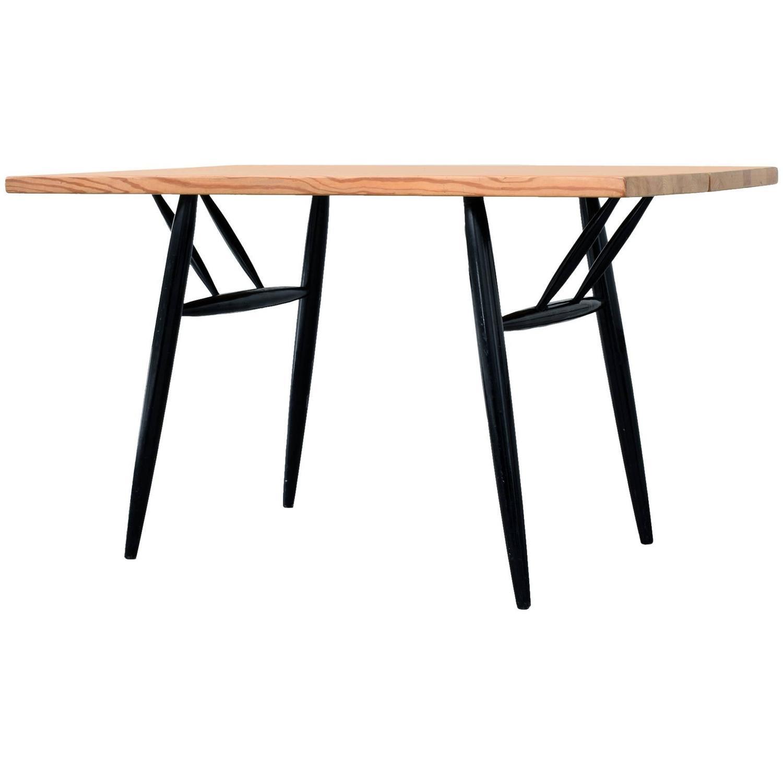 Table Top 1955: Ilmari Tapiovaara, 'Pirkka' Dining Table, 1955 For Sale At