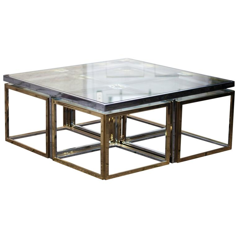 Bicolor Maison Jean Charles Low Table For Sale