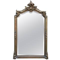 19th Century Gold Gilded Louis Quinze Mirror