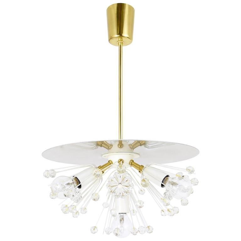 Austrian Blowball Chandelier by Emil Stejnar for Rupert Nikoll, Vienna, 1950s