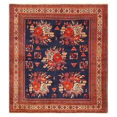 Square Antique Persian Afshar Rug