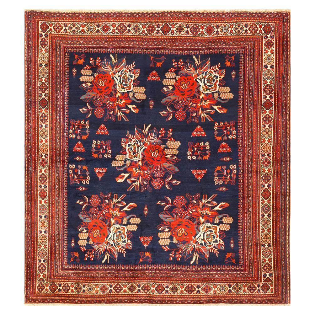 Retro Bedroom Chairs Persian Carpet Bedroom Blue Grey Bedroom Colour Scheme Bench Seat For Bedroom: Square Antique Persian Afshar Rug For Sale At 1stdibs