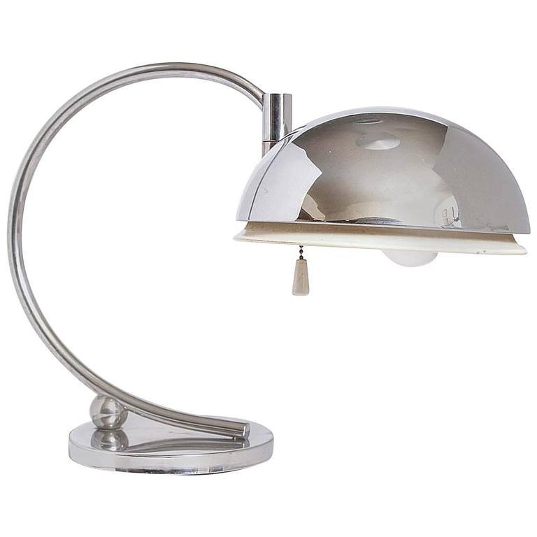 Streamline American Art Deco Machine Age Articulating Table Lamp