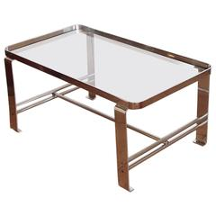 Original Wolfgang Hoffmann for Howell Chromed Steel Machine Age Cocktail Table