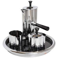 Walter Von Nessen Chase Art Deco Diplomat Coffee Set, Complete, Original Tray