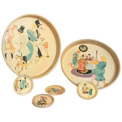 Cubist Jazz Age Cocktail Tray or Tip Coaster Collection Ruppert's Beer