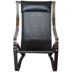 Machine Age Art Deco McKay Craft  Cantilevered Sling Lounge Chair McKaycraft