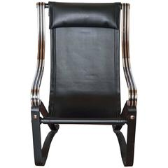 Esoteric McKay Craft Machine Age Cantilevered Sling Lounge Chair