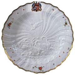 Large Meissen Dish from the Swan Service, 1739-1740
