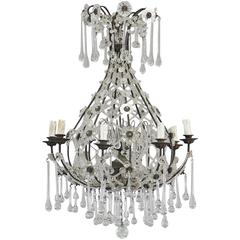 Early 20th Century French Teardrop Chandelier