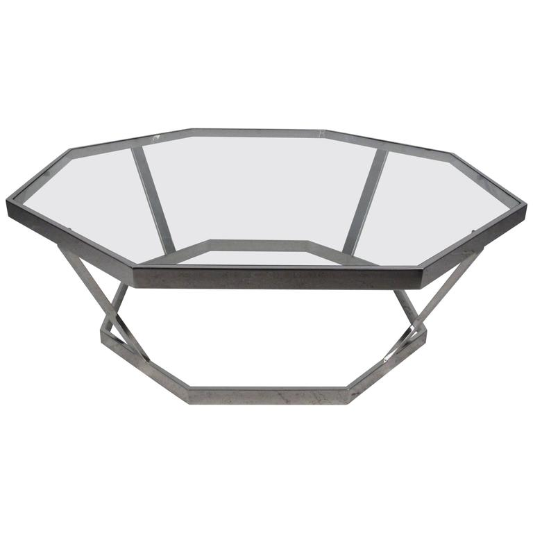 Vintage Modern Coffee Table Attributed to Milo Baughman