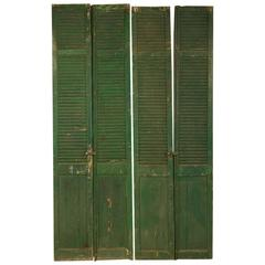 French Shutter in Original Green Paint