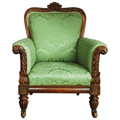 William IV Simulated Rosewood Armchair