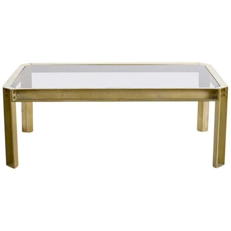 Solid Brass Coffee Table of the 1970s
