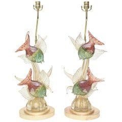 Murano Barovier e Toso Glass Lamps