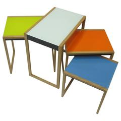 Four Stacking Side Tables by Josef Albers