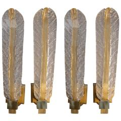 Set of Four-Leaf Sconces