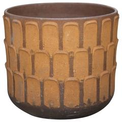 Large David Cressey Stoneware Thumb Print Pot