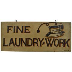 Folk Art Laundry Sign