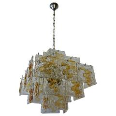 Murano Glass Chandelier by Mazzega
