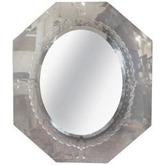 Octagonal Beveled Venetian Mirror