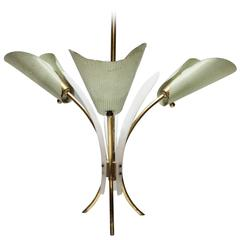 French Chandelier in the Style of Mathieu Mategot