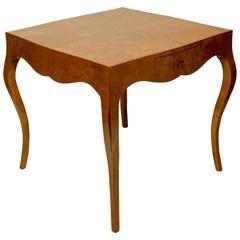 Italian Walnut Game Table