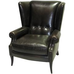 Leather Wingback Chair