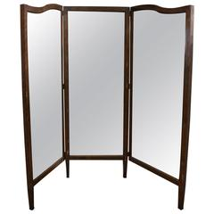Antique American Department Store Cheval Three Panel Mirror at 1stdibs