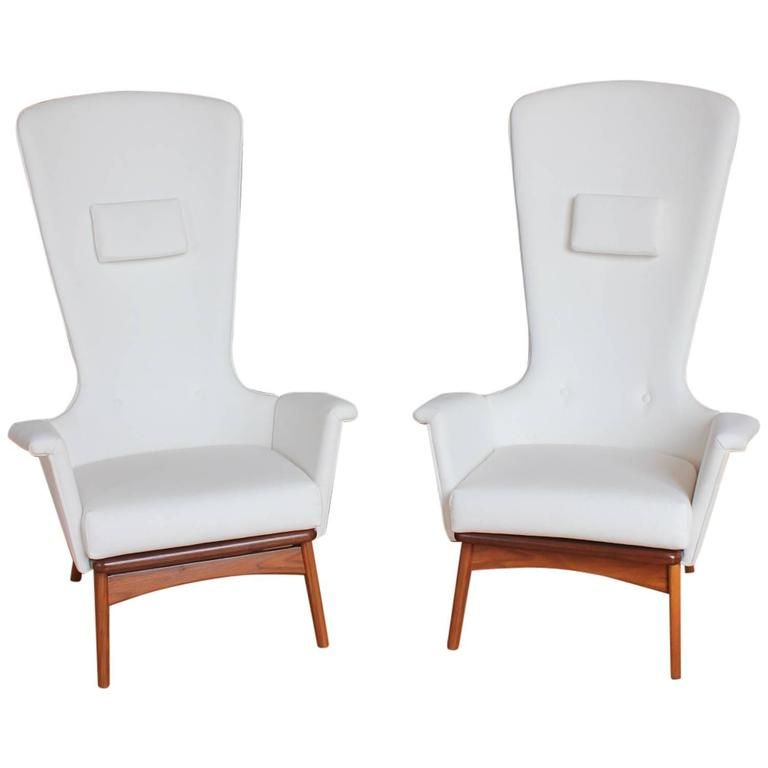 Sculptural High Back Lounge Chairs By Adrian Pearsall For Sale At 1stdibs