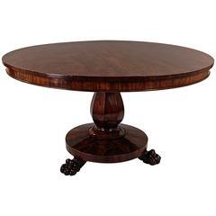 Late Regency Mahogany Center Table