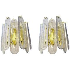 Pair of Mazzega Style Venini Sconces