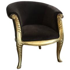 Maurice Dufrene Gilded Lounge Chair