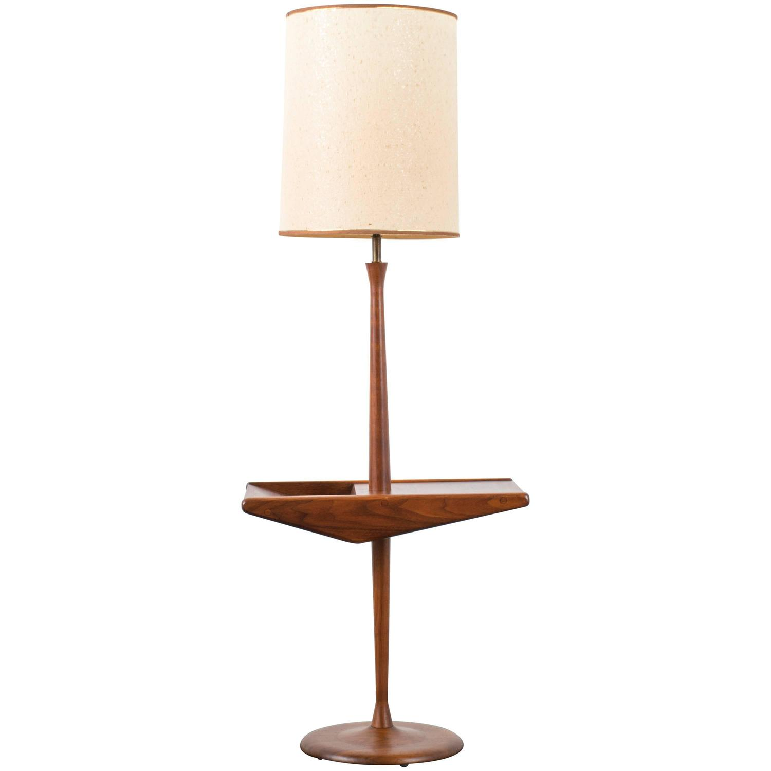 mid century modern floor lamp by laurel lamp at 1stdibs. Black Bedroom Furniture Sets. Home Design Ideas