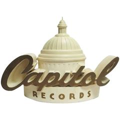Capitol Records Large-Scale Plaster Store Window Display