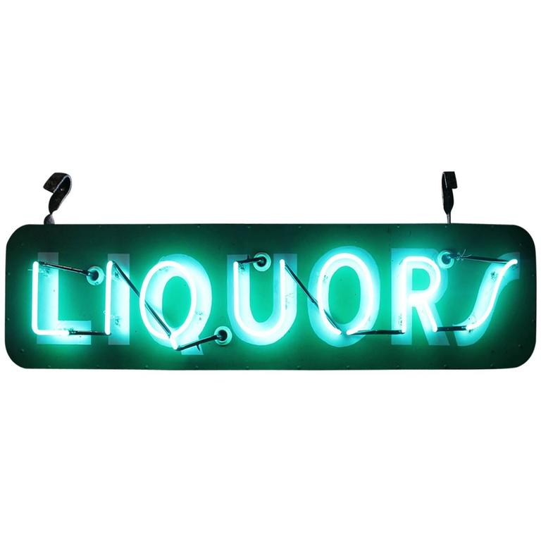 1950s Neon Sign Liquors