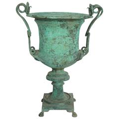 Antique French Decorative Copper Urn