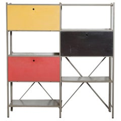 Wim Rietveld Industrial Metal Cabinet #663-2 for Gispen