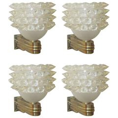 Set of Four Barovier Toso Sconces