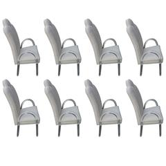 Set of 8, 10, 11 Charles Hollis Jones Lucite Waterfall Arm Dining Chairs CHJ